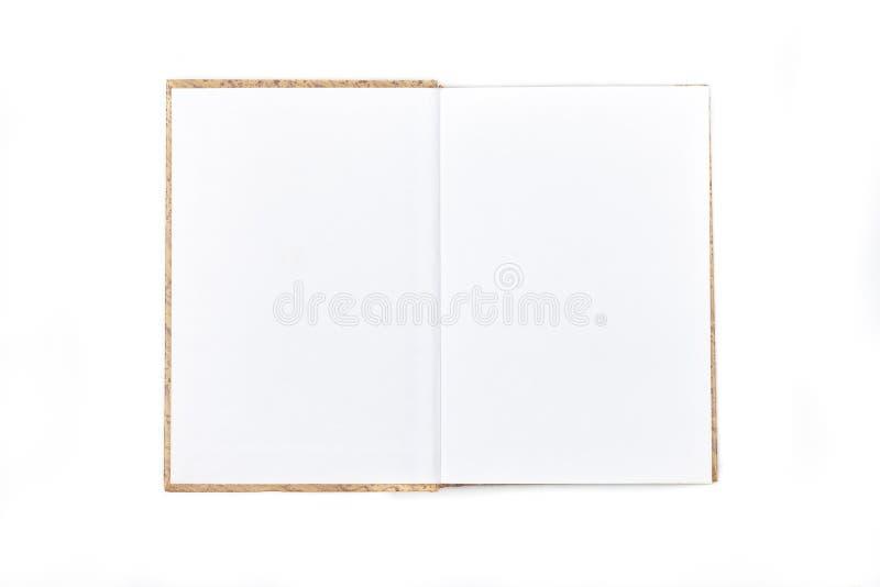 Książka otwierał w połówce odizolowywającej na bielu obrazy stock