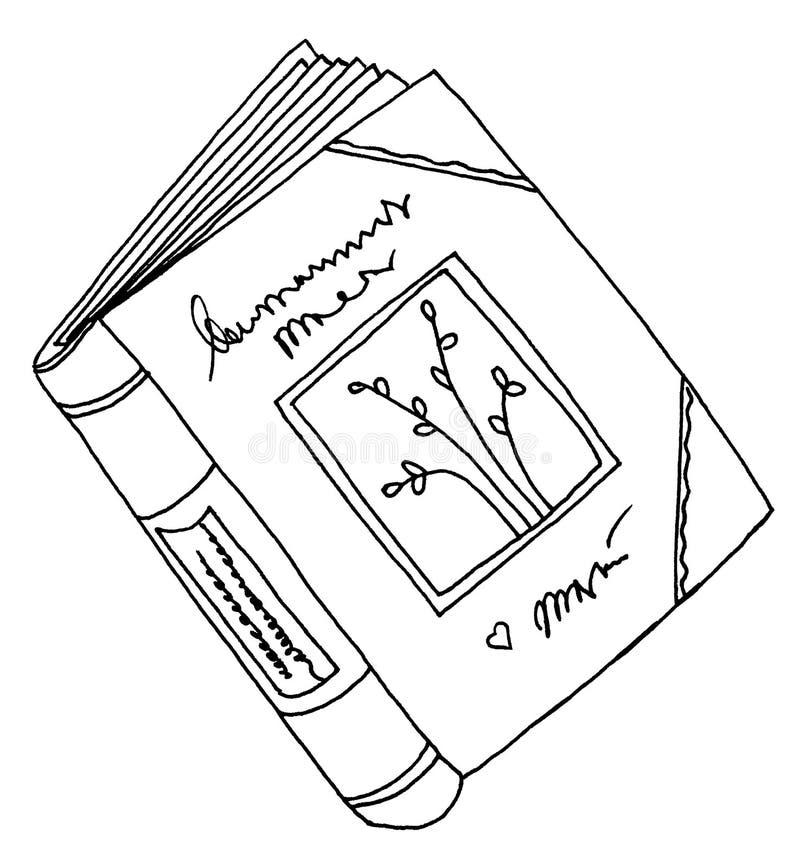 książka pamiętnika rysunek ilustracja wektor