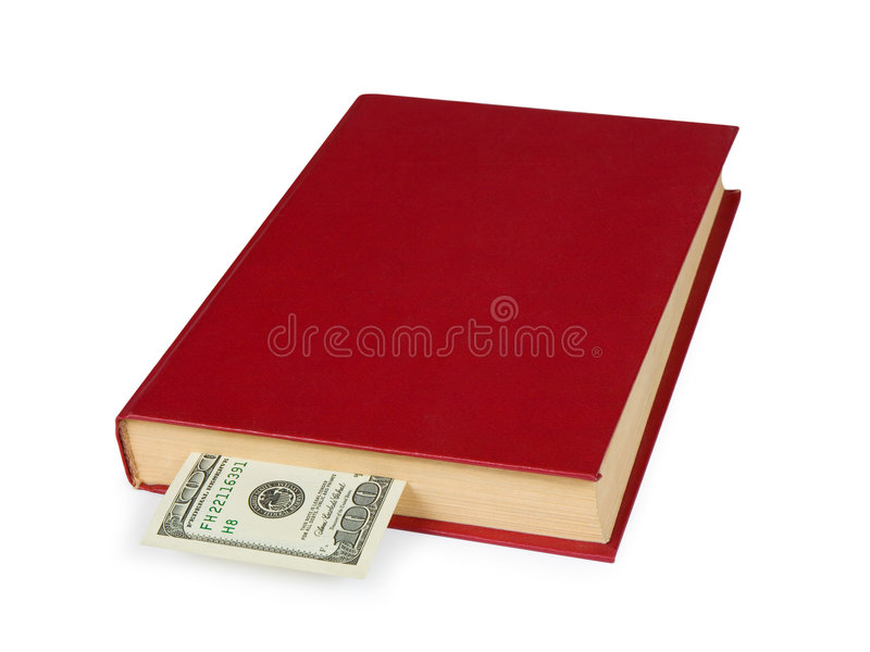 książka pieniądze fotografia stock