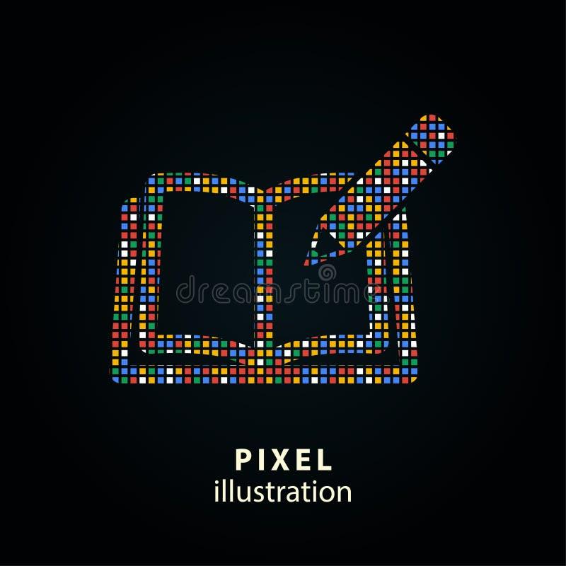 Książka - piksel ilustracja ilustracji