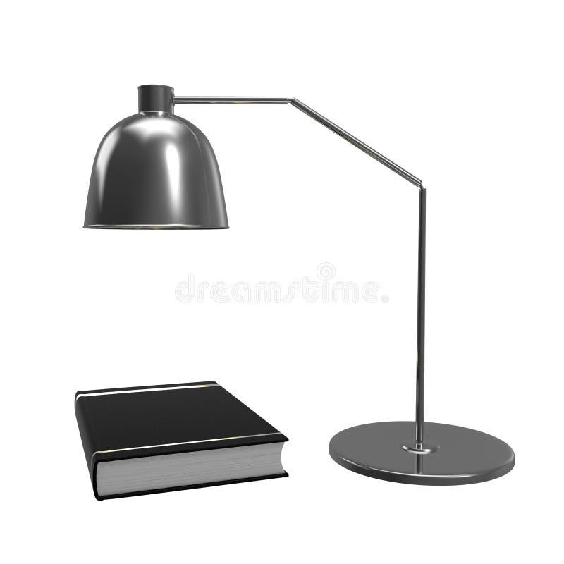 Książka pod stołową lampą Pojęcie kontynuować edukację świadczenia 3 d ilustracja wektor