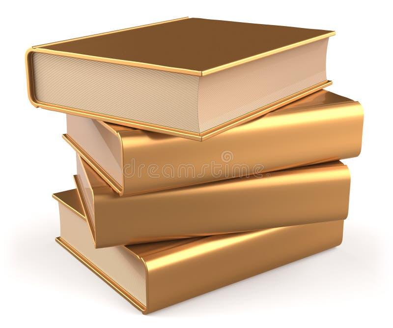 Książka podręcznika pustej sterty manuału złocisty żółty złoty faq royalty ilustracja