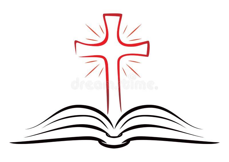Książka religii wiara ilustracji