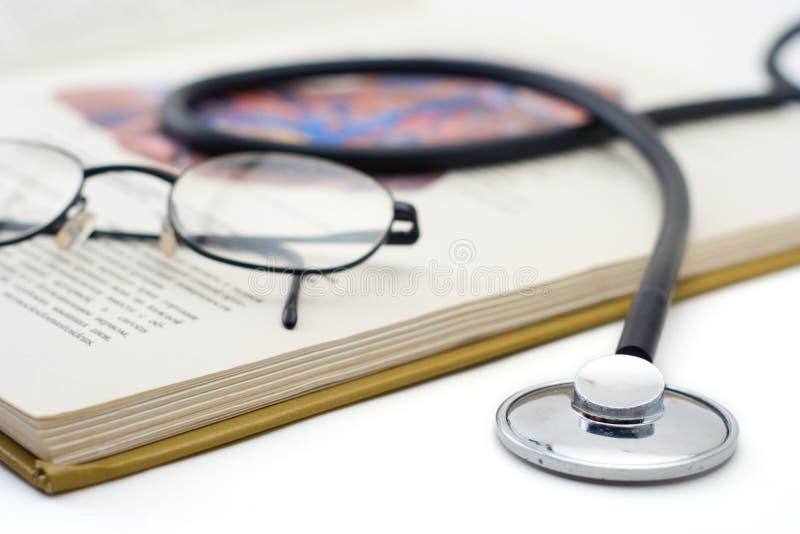 książka stetoskop szkła fotografia stock