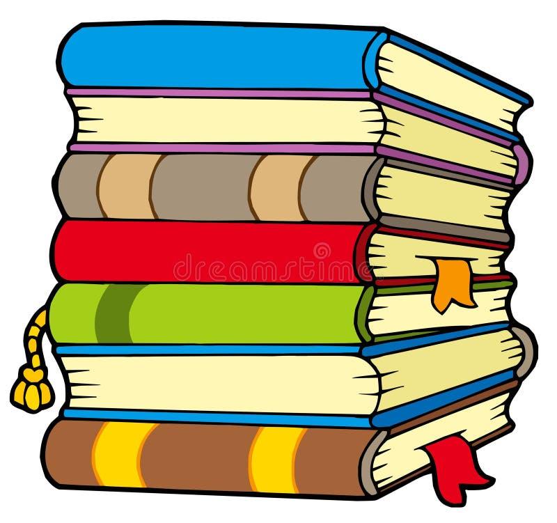 książka stos ilustracja wektor