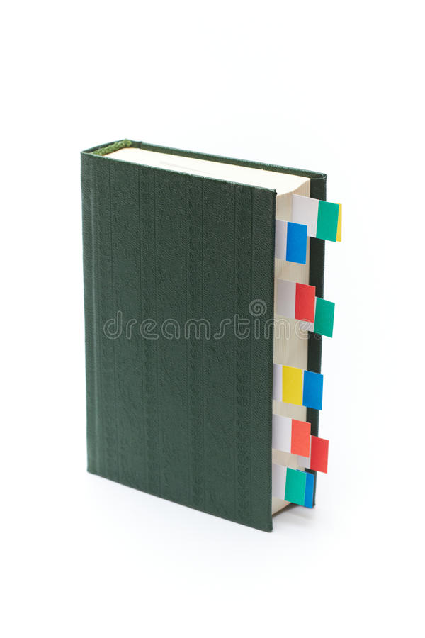 Książka z bookmarks obraz stock