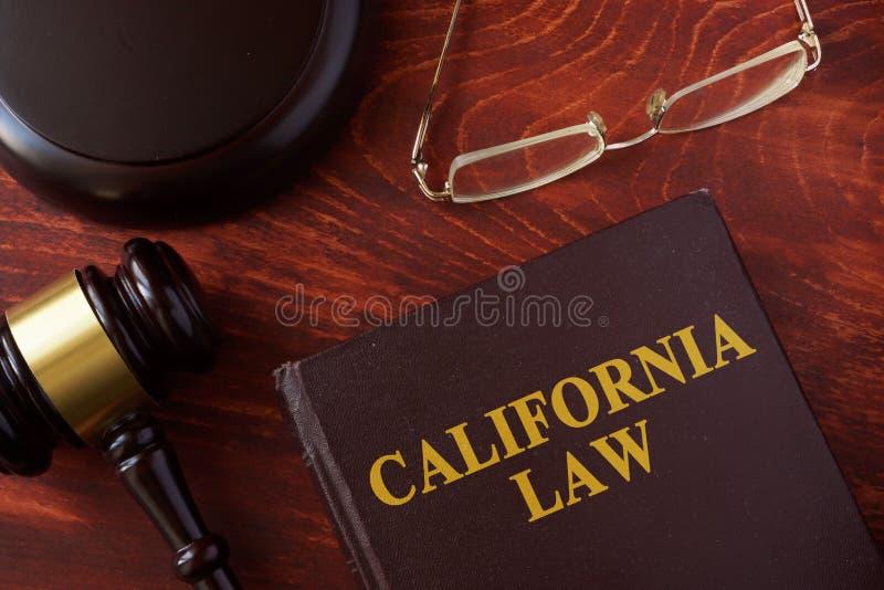 Książka z tytułowym Kalifornia prawem obrazy royalty free