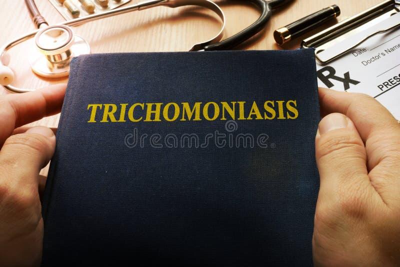 Książka z tytułowym Trichomoniasis obraz royalty free