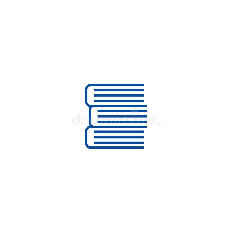 Książka znaka linii ikony pojęcie Książki podpisują płaskiego wektorowego symbol, podpisują, zarysowywają, ilustrację ilustracja wektor