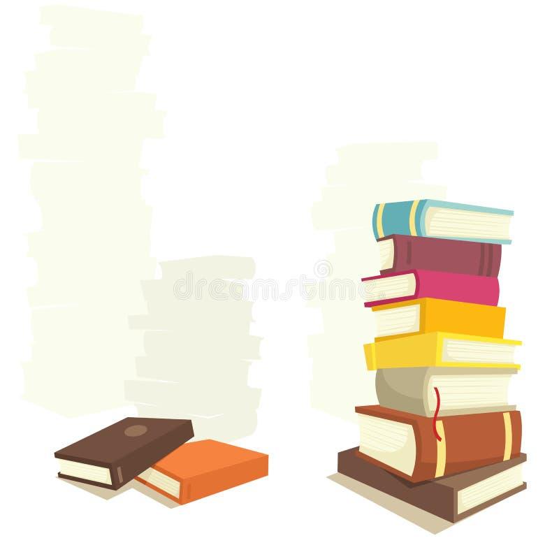 książki royalty ilustracja