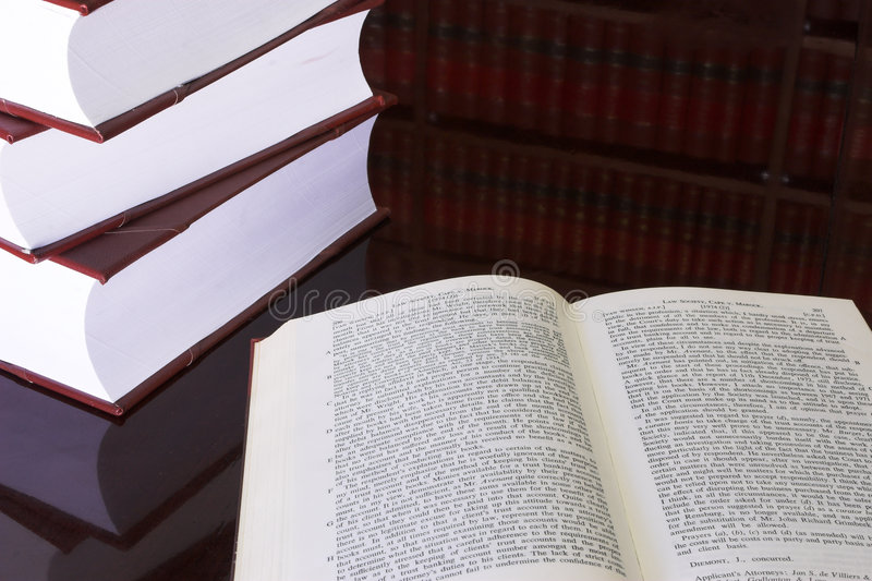Książki 22 Prawnej Zdjęcie Stock
