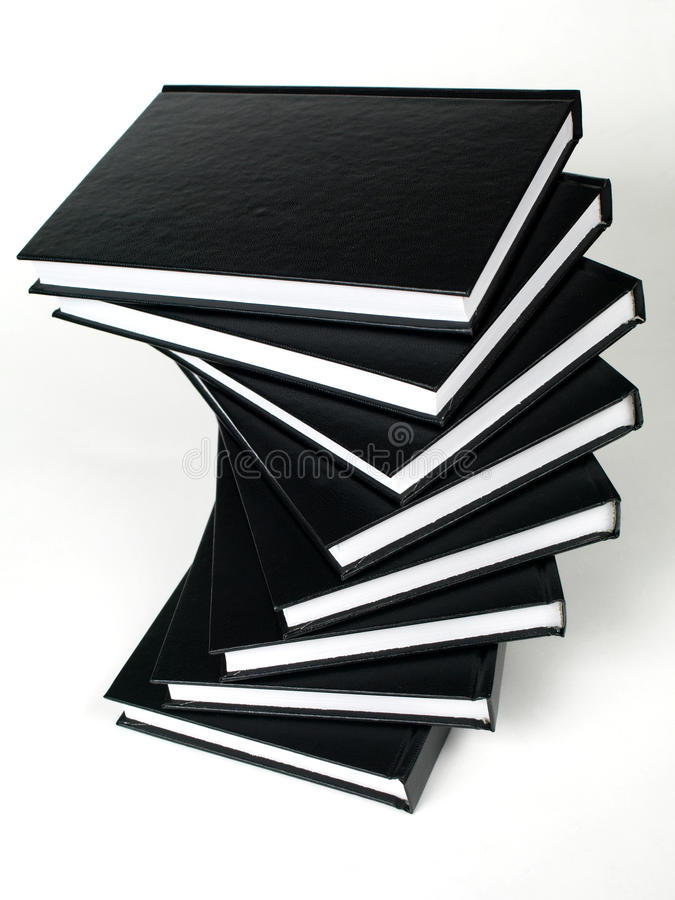 książki czarny sterta obraz royalty free