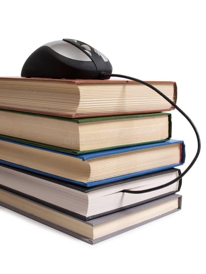 Książki dwa i mysz obraz stock