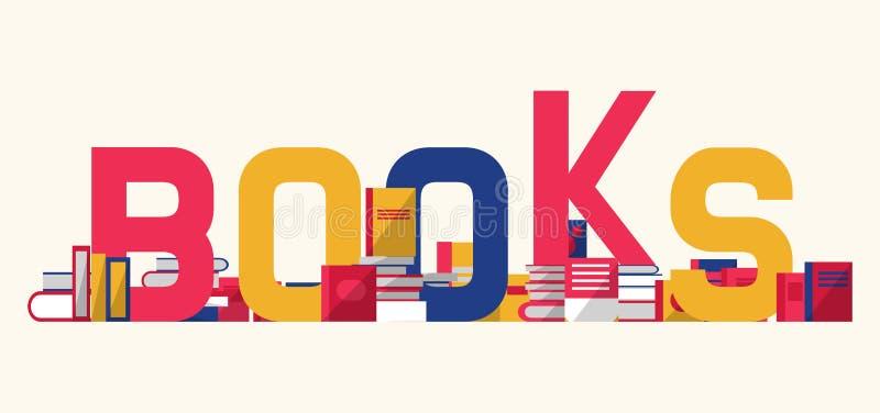Książki i podręczniki z półka na książki wektoru ilustracją Czytelniczy eductational biblioteki lub festiwalu pojęcie dyferencja royalty ilustracja