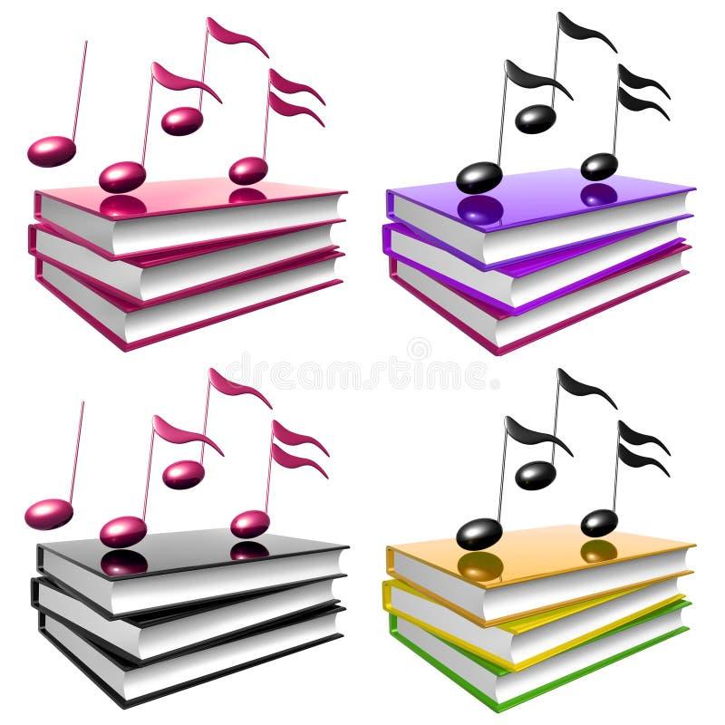 książki ikona uczy się muzycznego pieśniowego symbol royalty ilustracja