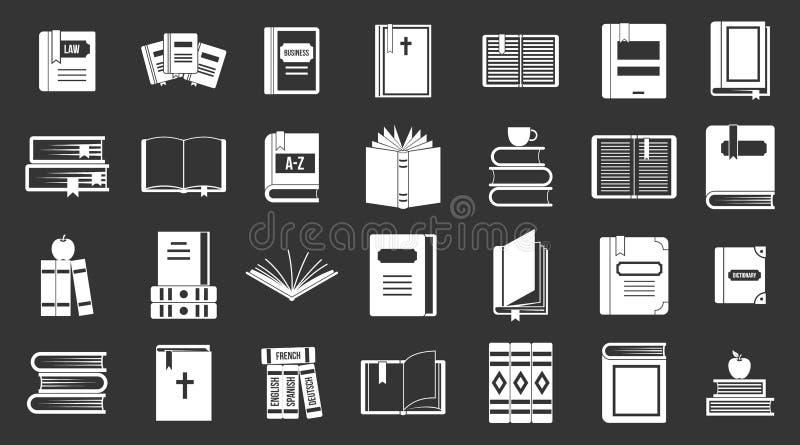 Książki ikony setu popielaty wektor ilustracja wektor