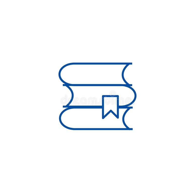 Książki ilustracji linii ikony pojęcie Książki ilustracji płaski wektorowy symbol, znak, kontur ilustracja ilustracji