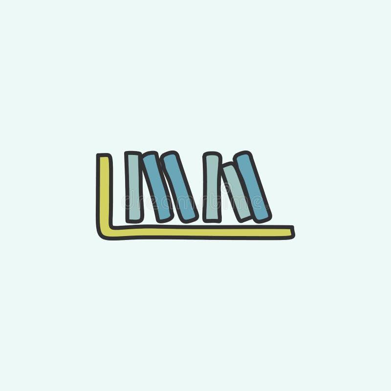 książki na szelfowej nakreślenie ikonie Element edukaci ikona dla mobilnych pojęcia i sieci apps Śródpolne kontur książki na szel ilustracji