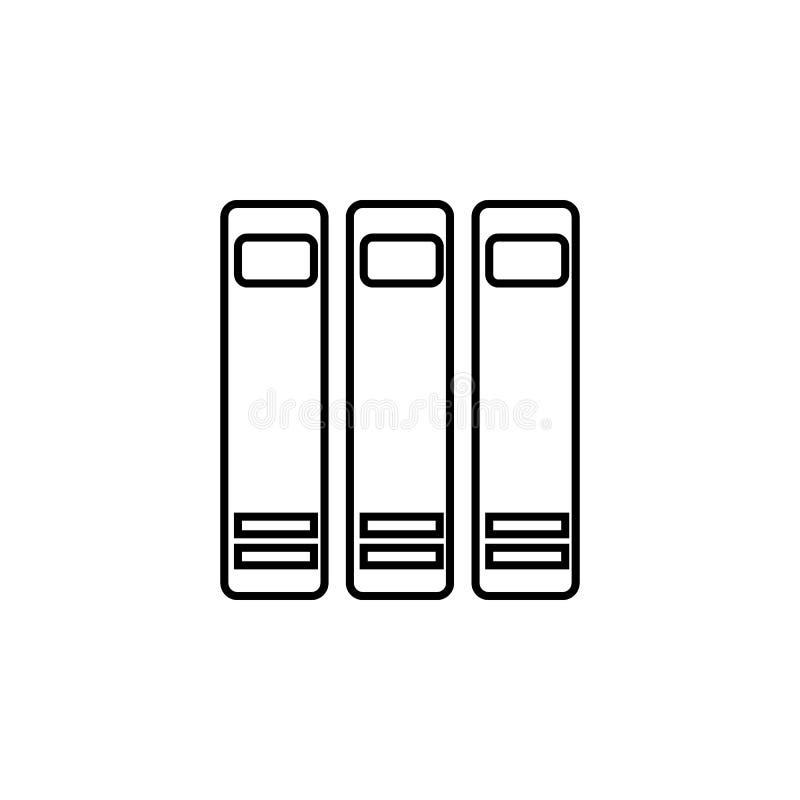 książki na tylnej ikonie Element wiedza dla mobilnych pojęcia i sieci apps Cienka kreskowa ikona dla strona internetowa rozwoju i ilustracja wektor