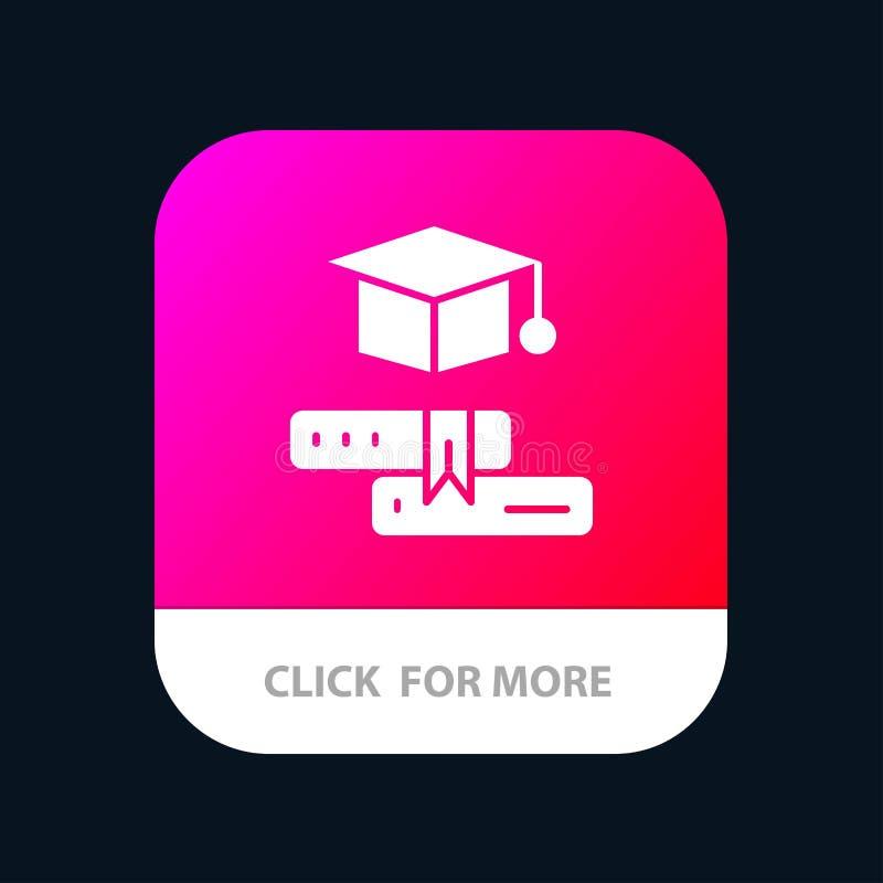 Książki, nakrętka, edukacja, skalowania App Mobilny guzik Android i IOS glifu wersja ilustracja wektor