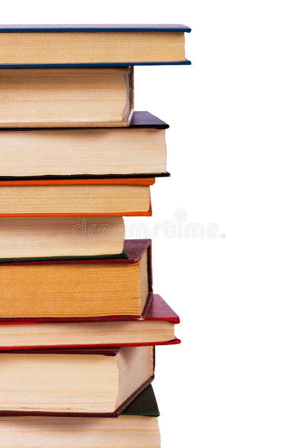 książki odizolowywający stos fotografia stock