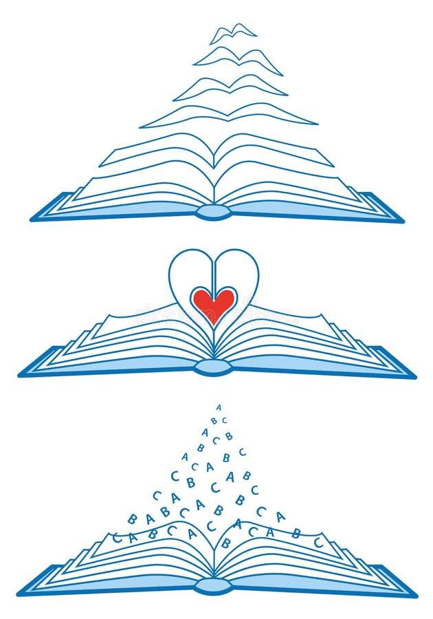 książki otwierają ilustracja wektor