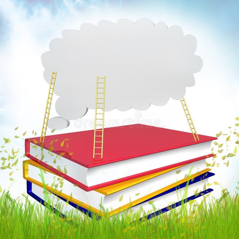 książki rozwijać ikona umysł ilustracji