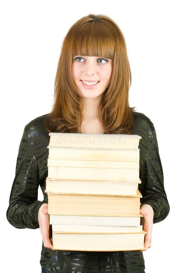 książki sterty uczeń obraz royalty free