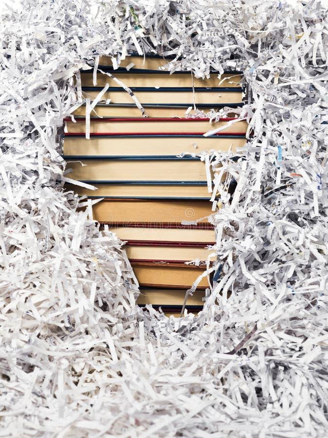 książki tapetują pasków wierza obraz stock
