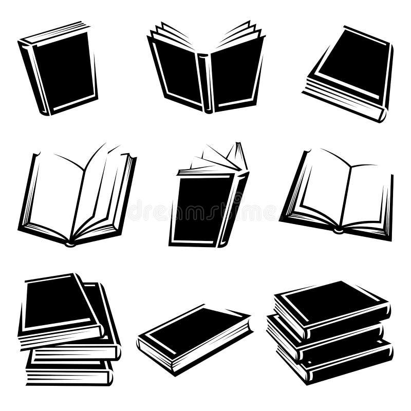 Książki ustawiać. Wektor royalty ilustracja