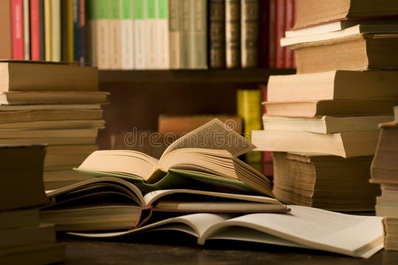 Książki w nauka pokoju obrazy royalty free