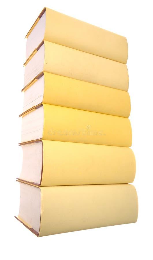książki wypiętrzają kolor żółty obrazy royalty free