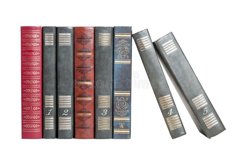 Książki z rzędu zdjęcia stock