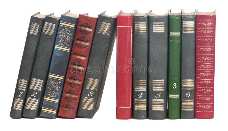Książki z rzędu obrazy royalty free