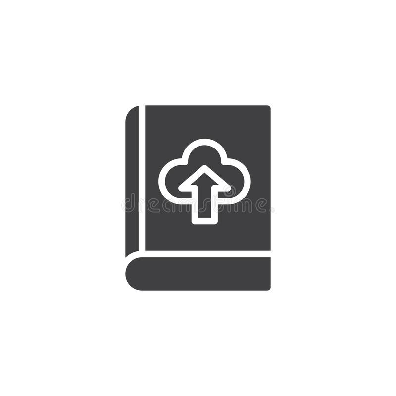 Książkowa ściąganie chmury wektoru ikona ilustracji