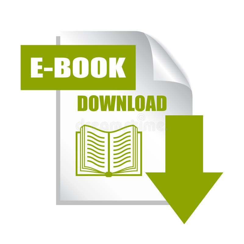 Książkowa ściąganie ikona royalty ilustracja