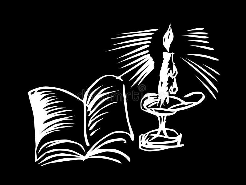 książkowa świeczka royalty ilustracja