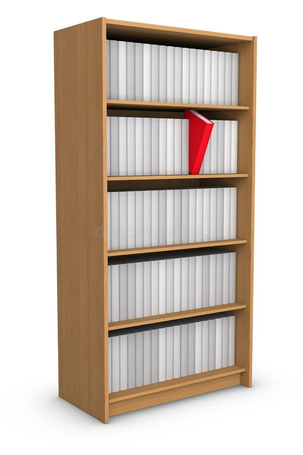 książkowa biblioteka royalty ilustracja