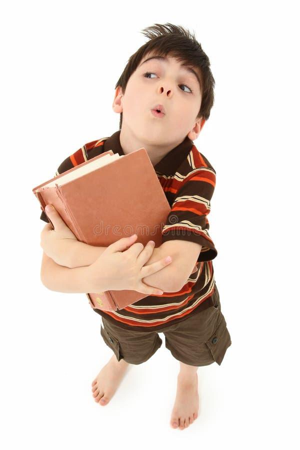 książkowa chłopiec fotografia royalty free