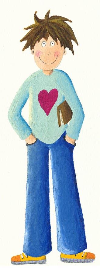 książkowa chłopiec ilustracji