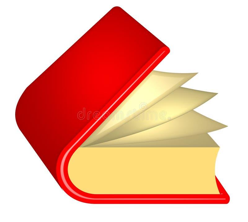 książkowa czerwień ilustracja wektor