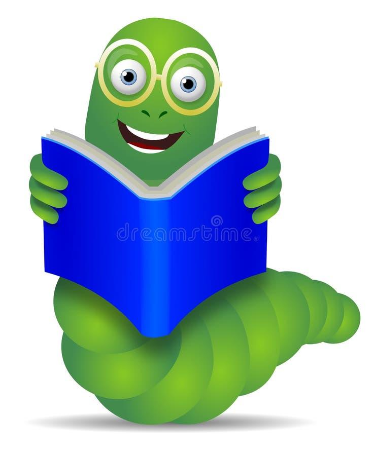 Książkowa dżdżownica ilustracji