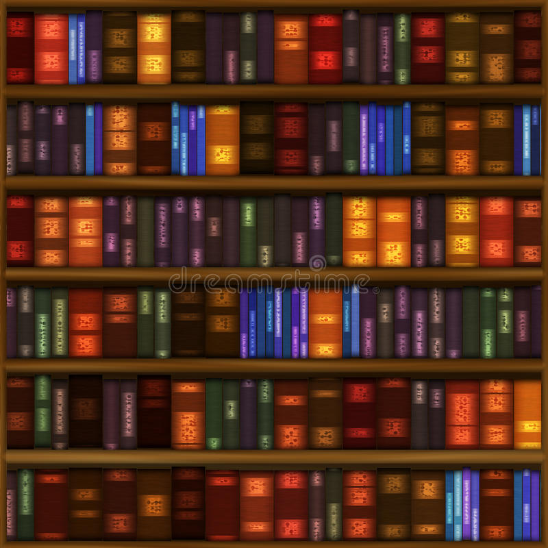 książkowa deseniowa półka ilustracja wektor