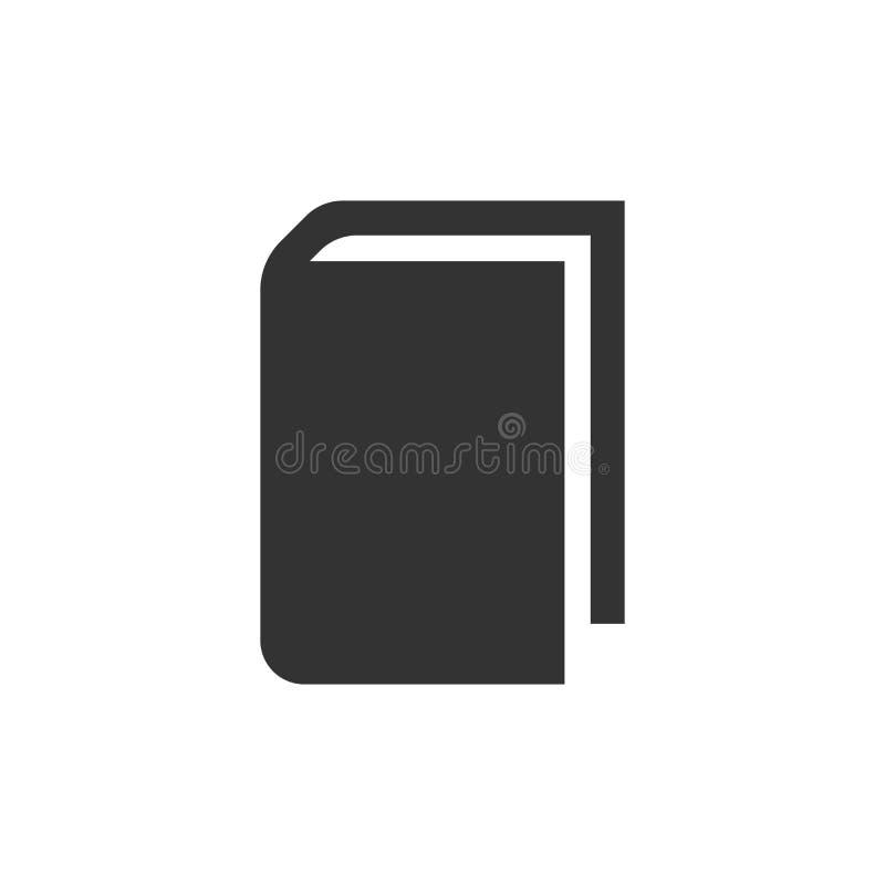 Książkowa edukaci ikona w mieszkanie stylu Literatura magazynu wektor il ilustracji