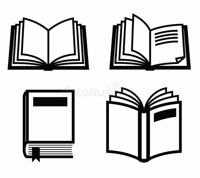 Książkowa ikona royalty ilustracja