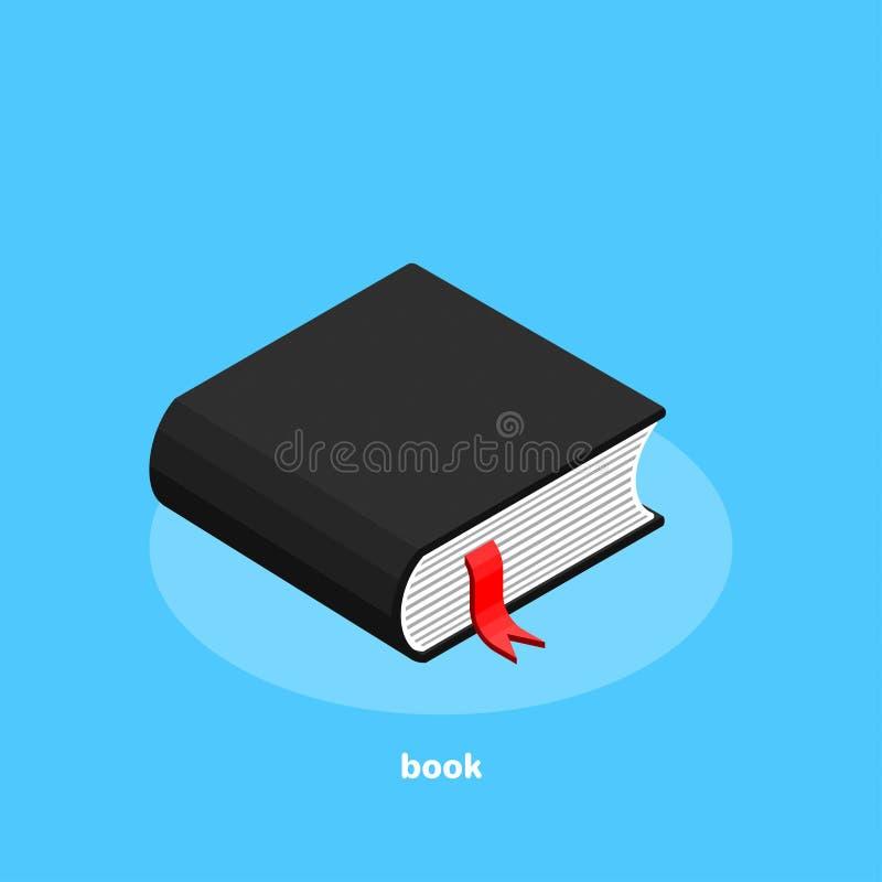 Książkowa ikona na błękitnym tle, isometric royalty ilustracja