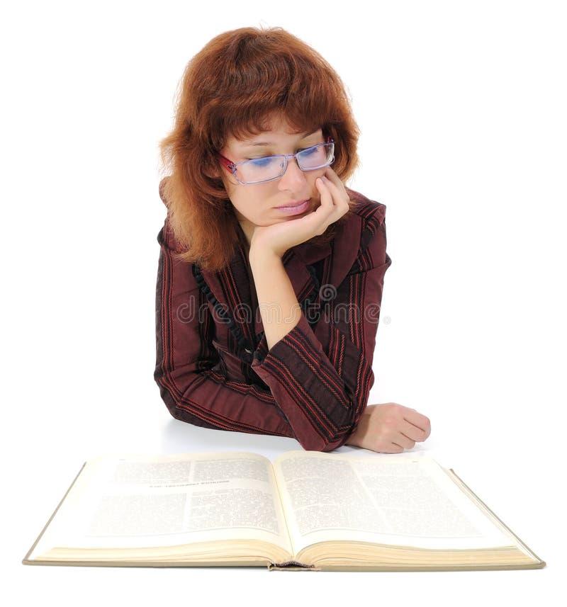 książkowa kobieta obraz stock