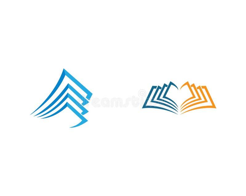Książkowa logo ikona ilustracja wektor