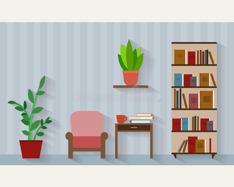 Książkowa półka royalty ilustracja