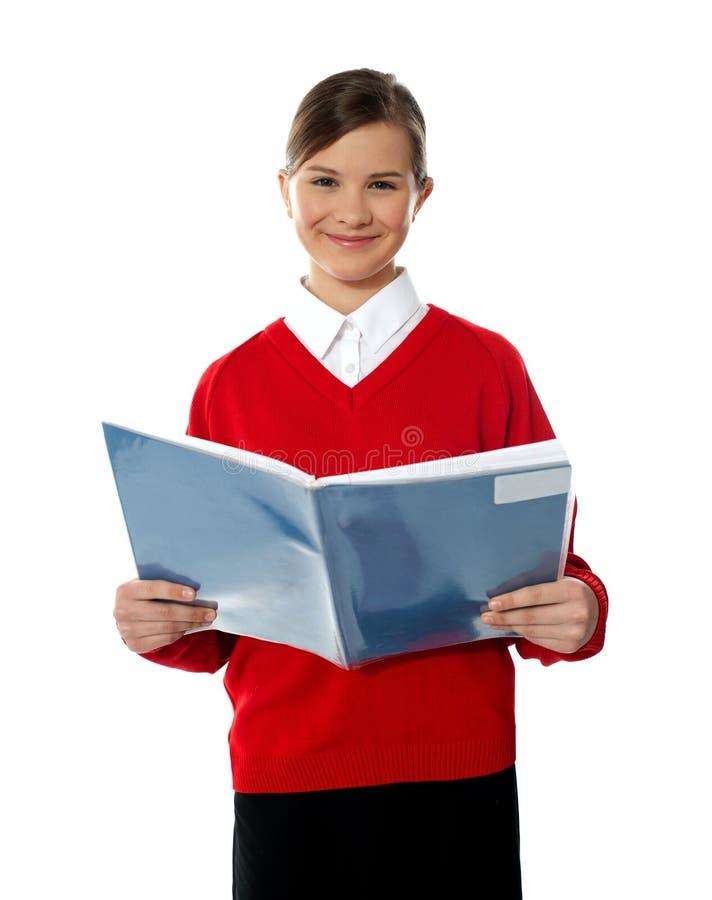 książkowa powabna dzieciaka czytania szkoła zdjęcie royalty free